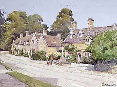 Stanton Cross - a watercolour by John Davis